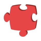 Lokalisierte Ikone des Puzzlespiels Stück über weißem Hintergrund Stockbild
