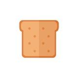 Lokalisierte Ikonen des Toasts Brot auf weißem Hintergrund Lizenzfreies Stockfoto