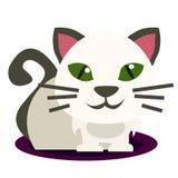 Lokalisierte Illustration der Karikatur Kätzchen mit weißem Hintergrund stock abbildung