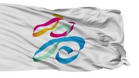 Lokalisierte Kaohsiungs-Stadtflagge, Taiwan stock abbildung