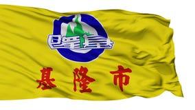 Lokalisierte Keelungs-Stadtflagge, Taiwan vektor abbildung