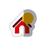 Lokalisierte Kommunikationsblase und Hausdesign Stockfotografie