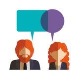 Lokalisierte Kommunikationsblase und Leutedesign Stockbild