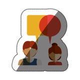 Lokalisierte Kommunikationsblase und Leutedesign Lizenzfreie Stockbilder