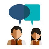 Lokalisierte Kommunikationsblase und Leutedesign Lizenzfreie Stockfotos