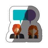 Lokalisierte Kommunikationsblase und Leutedesign Lizenzfreie Stockfotografie