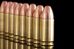 Lokalisierte Kugeln auf schwarzem Hintergrund Stockfotografie
