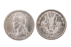 Lokalisierte Münze aus Französischem Kamerun Stockfotos