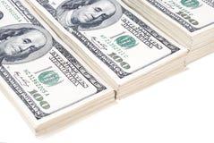 Lokalisierte Nahaufnahme der Dollarbanknote Geld lizenzfreie stockfotos