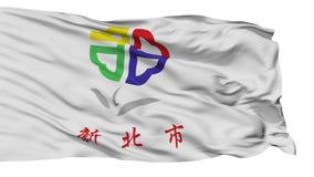 Lokalisierte neue Taipeh-Stadtflagge, Taiwan lizenzfreie abbildung
