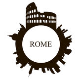 Lokalisierte Rom-Skyline lizenzfreie abbildung