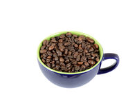 Lokalisierte Schale voll Kaffee Lizenzfreie Stockfotos