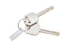 Lokalisierte Schlüssel auf Weiß mit Beschneidungspfad Lizenzfreies Stockfoto