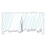 Lokalisierte Skyline von Seattle Lizenzfreie Stockfotografie
