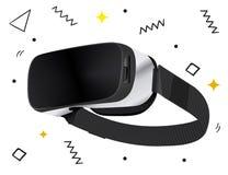 Lokalisierte stereoskopische vr 3d Vektorillustration Virtuelle digitale Cyberspacetechnologie des Vektors Innovationsger?t Virtu vektor abbildung