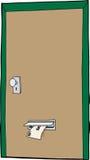 Lokalisierte Tür mit Post Stockbilder