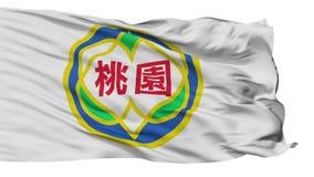 Lokalisierte Taoyuan-Stadtflagge, Taiwan lizenzfreie abbildung