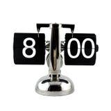 Lokalisierte Uhr des Weinleseleichten schlages bei acht O-` Uhr Lizenzfreie Stockfotos