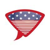 Lokalisierte USA-Flagge innerhalb des Blasendesigns Lizenzfreie Stockbilder