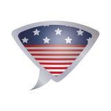 Lokalisierte USA-Flagge innerhalb des Blasendesigns Stockfoto