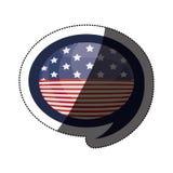 Lokalisierte USA-Flagge innerhalb des Blasendesigns Stockbild