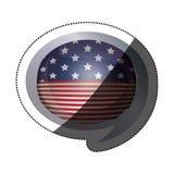 Lokalisierte USA-Flagge innerhalb des Blasendesigns Lizenzfreies Stockbild