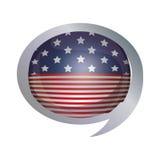 Lokalisierte USA-Flagge innerhalb des Blasendesigns Lizenzfreie Stockfotografie