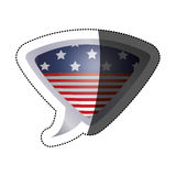 Lokalisierte USA-Flagge innerhalb des Blasendesigns Lizenzfreies Stockfoto