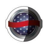 Lokalisierte USA-Flagge innerhalb des Knopfdesigns Lizenzfreies Stockfoto