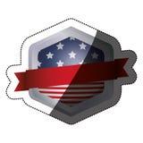 Lokalisierte USA-Flagge innerhalb des Rahmendesigns Lizenzfreies Stockbild