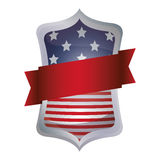 Lokalisierte USA-Flagge innerhalb des Rahmendesigns Stockfoto