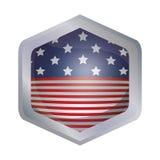 Lokalisierte USA-Flagge innerhalb des Rahmendesigns Lizenzfreies Stockfoto