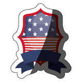 Lokalisierte USA-Flagge innerhalb des Rahmendesigns Lizenzfreie Stockfotos