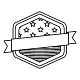 Lokalisierte USA-Flagge innerhalb des Rahmendesigns Stockfotografie