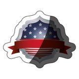 Lokalisierte USA-Flagge innerhalb des Rahmendesigns Lizenzfreie Stockbilder