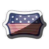 Lokalisierte USA-Flagge innerhalb des Rahmendesigns Stockfotos