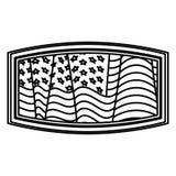 Lokalisierte USA-Flagge innerhalb des Rahmendesigns Stockbilder
