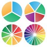 Lokalisierte Vektorillustration der Kreisdiagramme Gruppe vektor abbildung