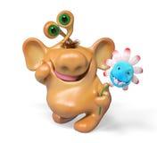 lokalisierte Wiedergabe der Karikatur der Fantasie 3d Monster Lizenzfreie Stockbilder
