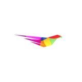Lokalisierter abstrakter violetter Farbadler, Falke des Falkeschattenbildlogos Gefährliches Jagdvogelfirmenzeichen Beflügelt Ikon Stockbilder