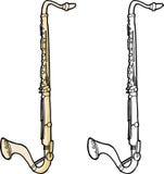 Lokalisierter Bass Clarinet vektor abbildung