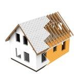 Lokalisierter Baudesign-Zickzackübergang des neuen Hauses vektor abbildung