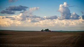 Lokalisierter Bauernhof auf dem Palouse stockbild