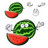 Lokalisierter Charakter der Wassermelonenfrucht Karikatur Stockbild