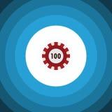 Lokalisierter Chip Flat Icon Poker-Vektor-Element kann für Poker, Kasino, Chip Design Concept benutzt werden Stockfotos