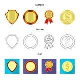 Lokalisierter Gegenstand des Emblem- und Ausweissymbols Sammlung des Emblem- und Aufkleberaktiensymbols für Netz vektor abbildung
