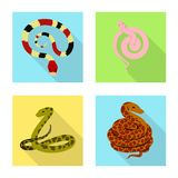 Lokalisierter Gegenstand des Haut- und Reptilsymbols Stellen Sie von der Haut und Gefahrenvektorillustration von der auf Lager ei vektor abbildung