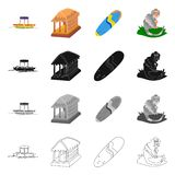 Lokalisierter Gegenstand von und Reisezeichen Sammlung von und traditionelles Aktiensymbol für Netz vektor abbildung