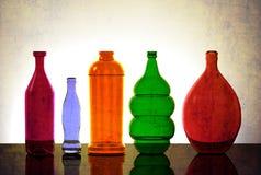 Lokalisierter Glaswaren-Lit von hinten Stockfoto