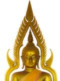 Lokalisierter, goldener halber Körper Buddhas Stockfoto